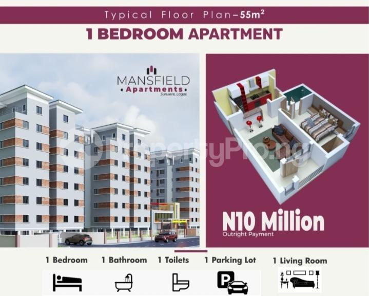 1 bedroom mini flat  Mini flat Flat / Apartment for sale Western Avenue Surulere Lagos - 1