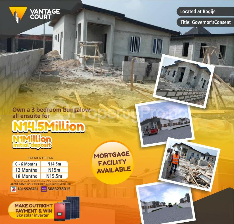 3 bedroom Detached Bungalow House for sale Bogije Ibeju-Lekki Lagos - 0