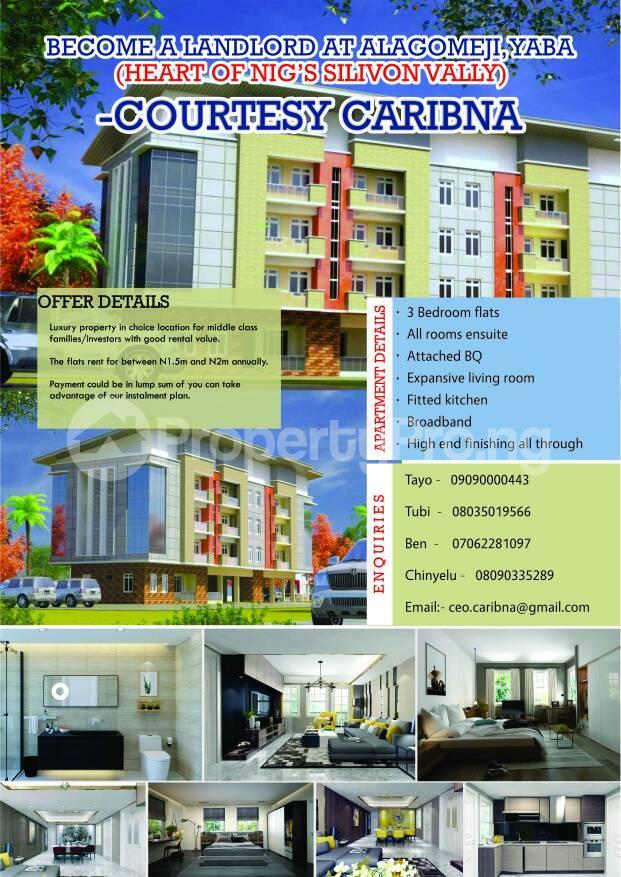 3 bedroom Flat / Apartment for sale Akinwunmi Street Alagomeji Yaba Lagos - 1