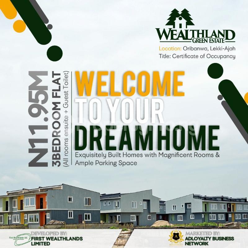3 bedroom Flat / Apartment for sale Wealthland Green Estate Oribanwa Ibeju-Lekki Lagos - 0