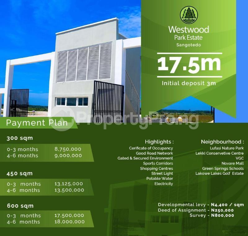Land for sale West Wood West Sangotedo Lagos - 7