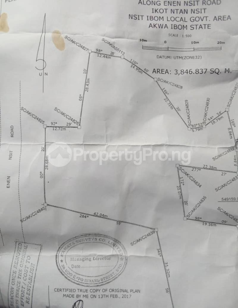 Mixed   Use Land Land for sale 2 minute drive from to Ekom Iman Junction Along Enen Nsit Road Nsit Ibom Akwa Ibom - 2