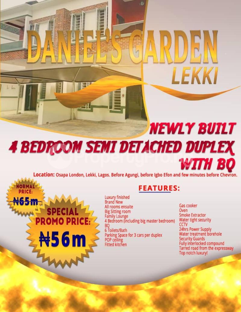 4 bedroom Semi Detached Duplex House for sale Daniels Garden  Osapa london Lekki Lagos - 8