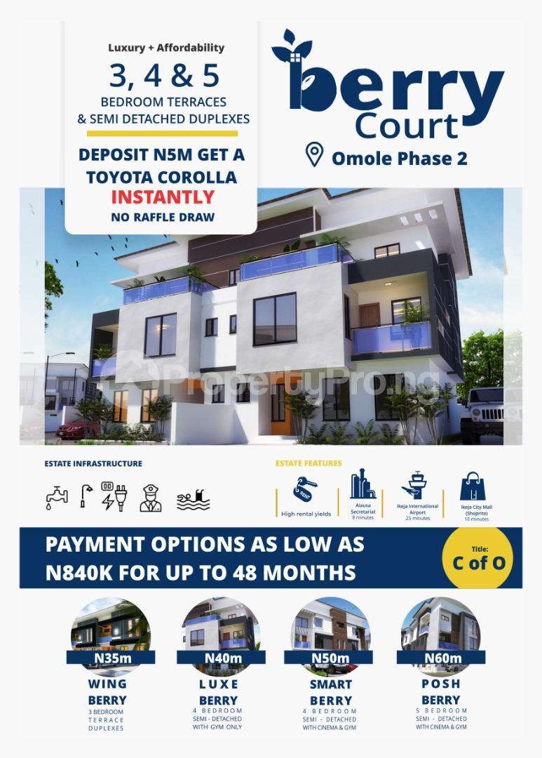4 bedroom Semi Detached Duplex House for sale Berry Court Omole phase 2 Ojodu Lagos - 0