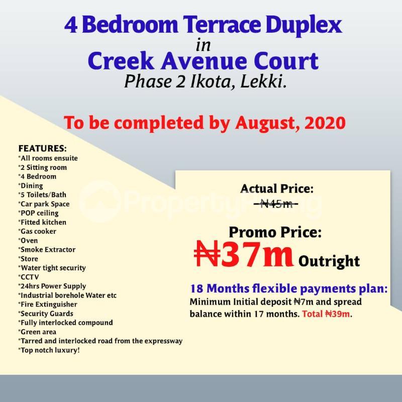 Terraced Duplex House for sale Creek avenue court phase 2 ikota,lekki  Ikota Lekki Lagos - 3