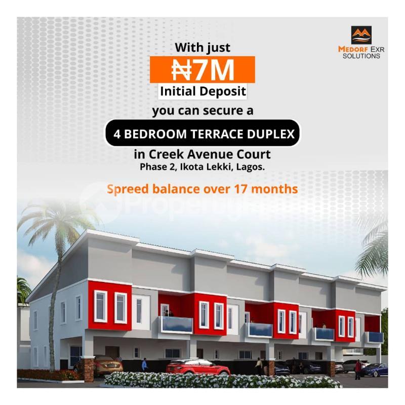 Terraced Duplex House for sale Creek avenue court phase 2 ikota,lekki  Ikota Lekki Lagos - 0