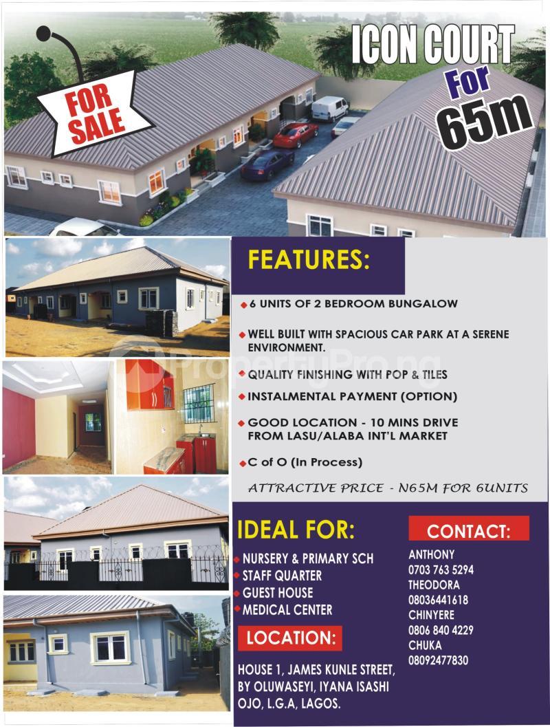 2 bedroom Semi Detached Bungalow House for sale House 1, James Street, by Oluwasheyi, Iyana isashi Ojo, Lagos   Okokomaiko Ojo Lagos - 8