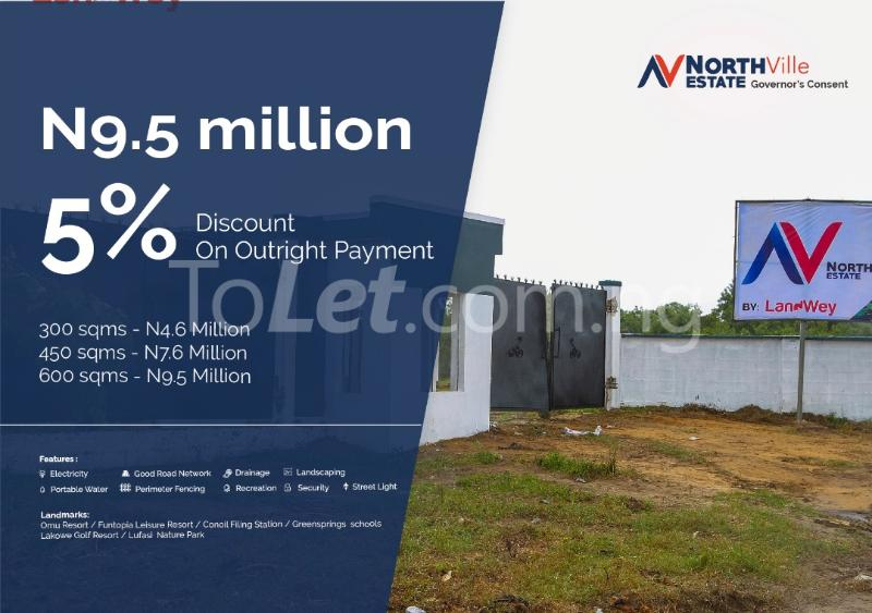 Serviced Residential Land Land for sale Bogije Lakowe Ajah Lagos - 1