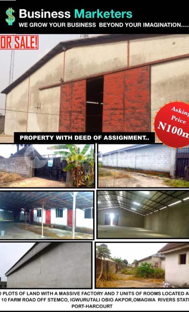 Warehouse Commercial Property for sale New Airport Road; Trans Amadi Port Harcourt Rivers - 1