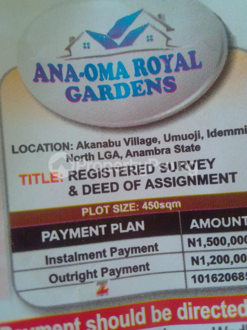 Mixed   Use Land Land for sale Akanabu village umuoji idemmili North LGA Anambra state Nigeria Idemili North Anambra - 0