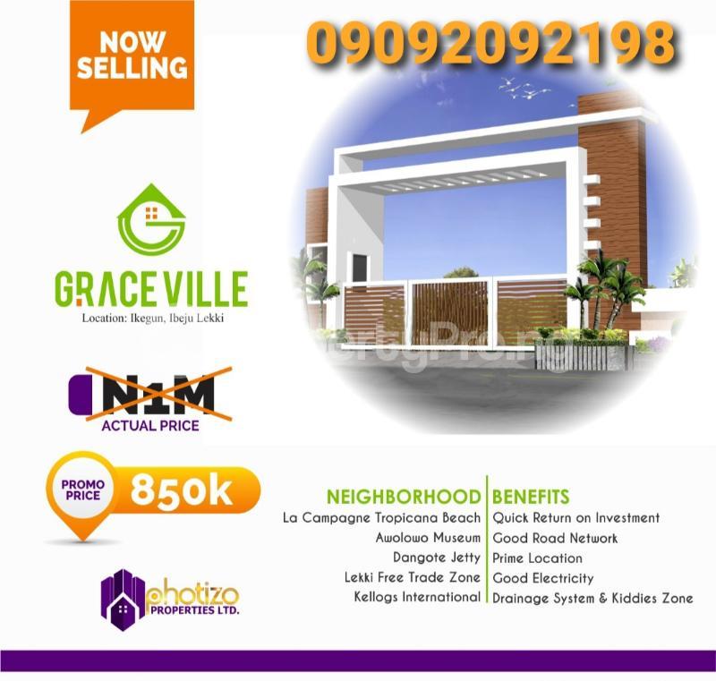 Residential Land Land for sale Ikegun Ibeju-Lekki Lagos - 0