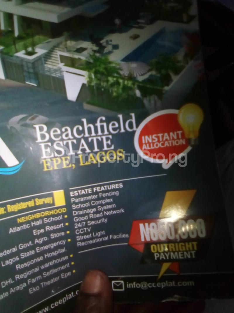 Serviced Residential Land Land for sale Ijko, pola Road Epe Largo  Beside Federal A bro store  Epe Road Epe Lagos - 0