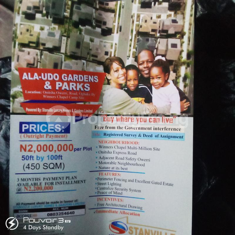 Residential Land Land for sale Ogbaku, Along Onitsha Owerri Road  Owerri Imo - 0