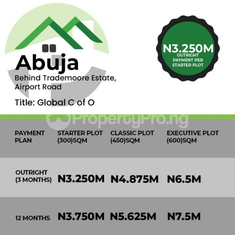 Residential Land Land for sale Behind Trademoore Estate Airport around UniAbuja  Lugbe Abuja - 0