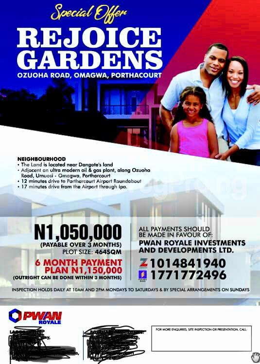 Residential Land Land for sale Ozuoha rd Omagwa  Port Harcourt Rivers - 0