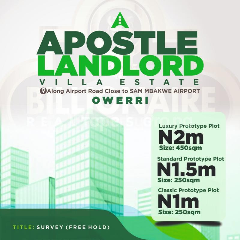 Serviced Residential Land Land for sale Along Airport Road Close to Sam Mbakwe Airport Owerri Imo - 0
