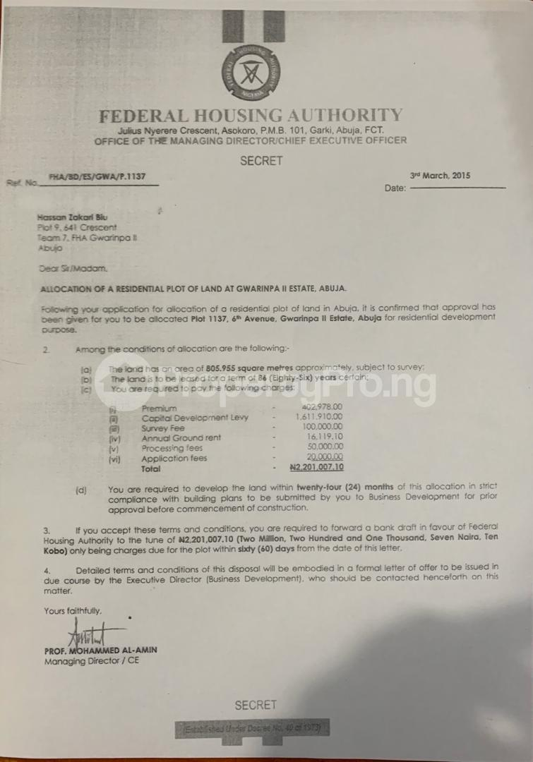Residential Land Land for sale 6th Avenue Gwarimpa 11 Estate Gwarinpa Abuja - 0