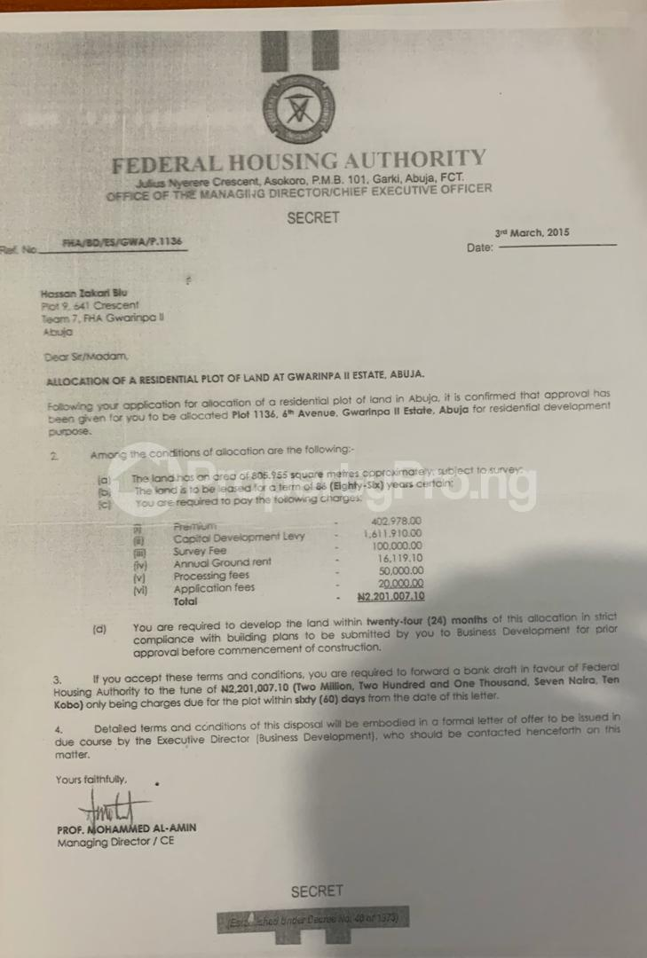 Residential Land Land for sale 6th Avenue Gwarimpa 11 Estate Gwarinpa Abuja - 1