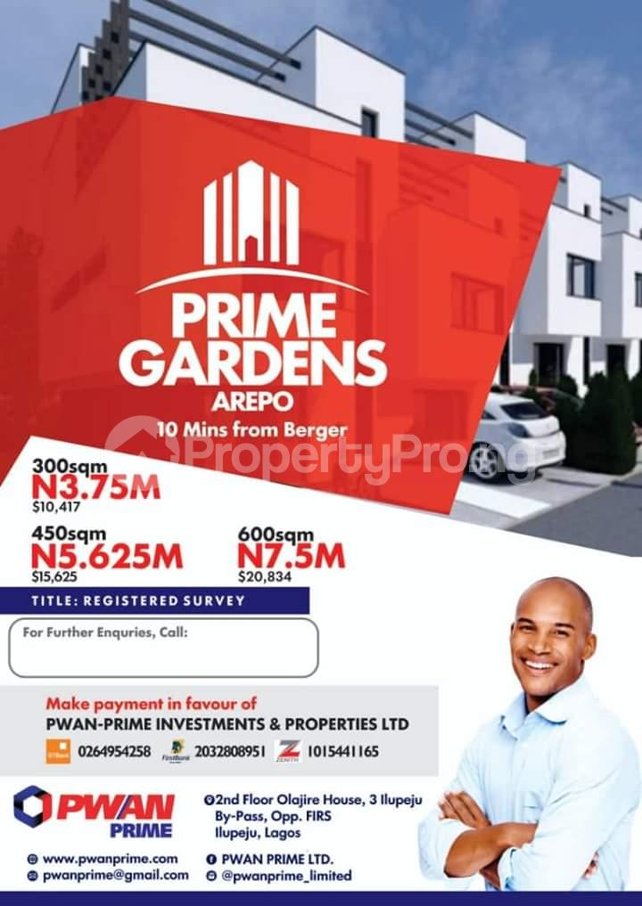 Residential Land Land for sale It shares neighborhood with journalists estate Arepo Arepo Ogun - 4