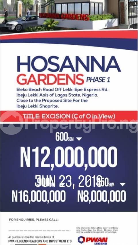 Mixed   Use Land Land for sale Eleko Beach Road, Ibeju lekki Axis of Lagos Eleko Ibeju-Lekki Lagos - 0
