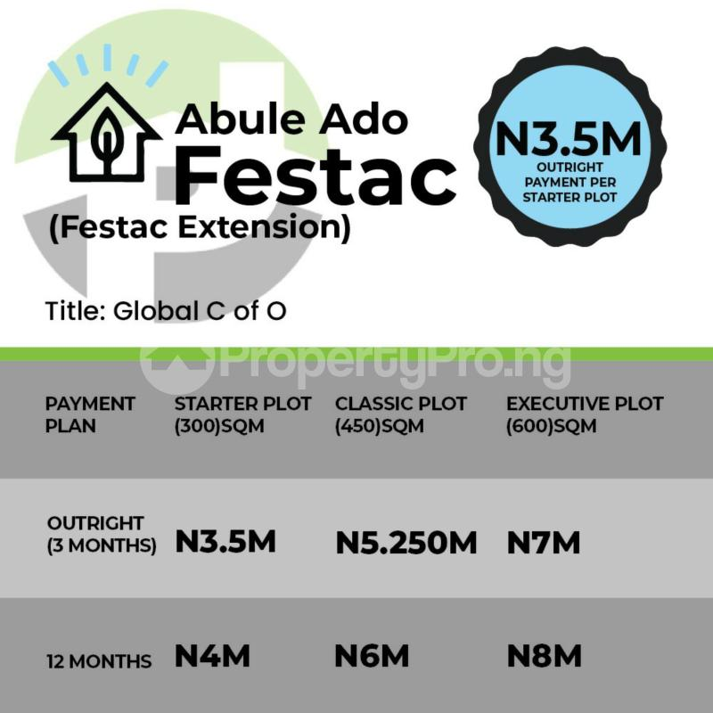 Residential Land Land for sale Festac Abulado by Pure water Ojo Ojo Lagos - 0
