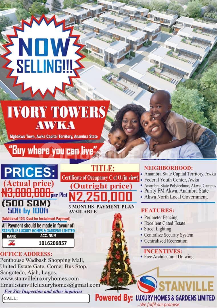 Mixed   Use Land Land for sale Mgbakwu Town, Awka Capital Territory Anambra State Awka North Anambra - 1