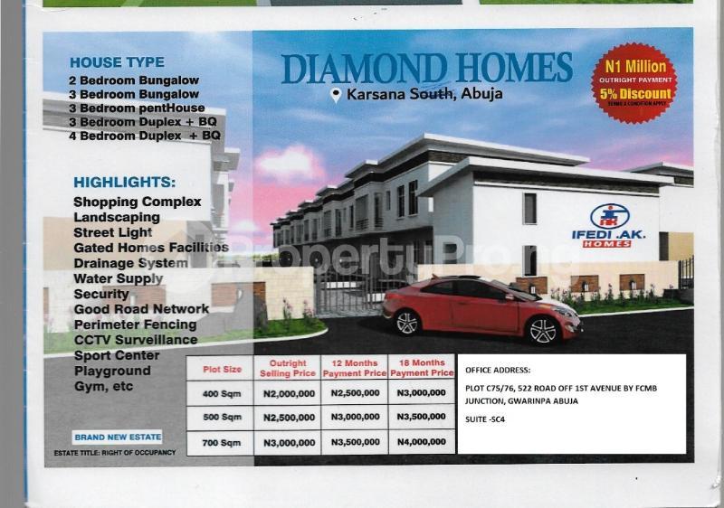 Residential Land Land for sale Behind Efab Queens Estate  Gwarinpa Abuja - 0