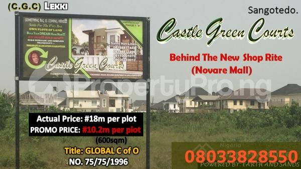 Serviced Residential Land Land for rent Off monastery road Monastery road Sangotedo Lagos - 1