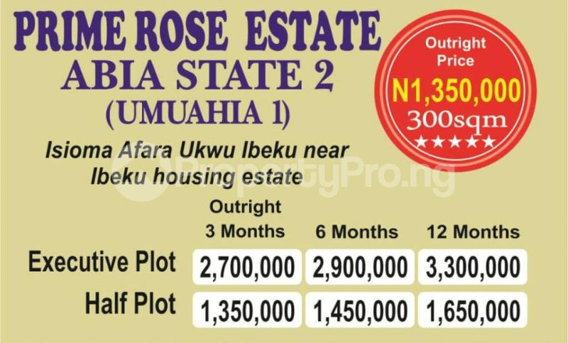 Mixed   Use Land Land for sale Beside Royal Dam Grate Hotel Road Ibeku  Umuahia North Abia - 0