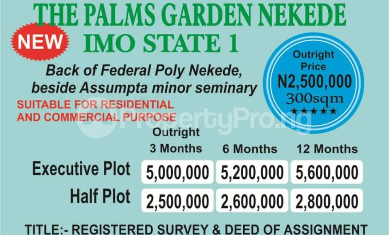 Estate land in Nekede New Owerri
