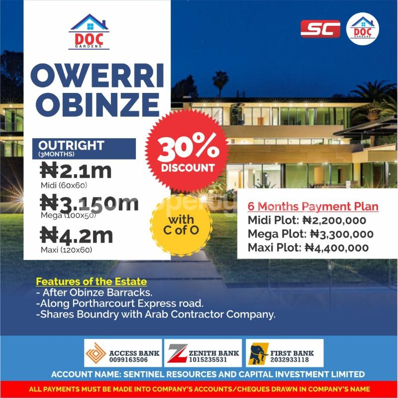 Serviced Residential Land Land for sale Along PortHarcourt Express Road after Obinze Barracks  Owerri Imo - 0