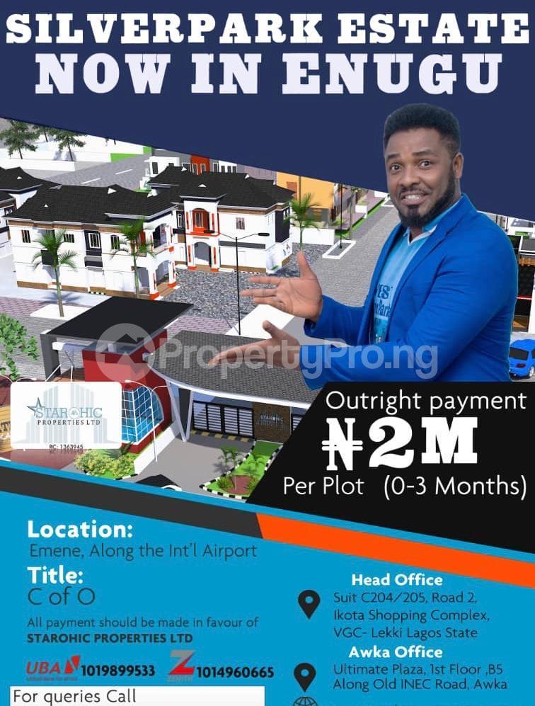 Serviced Residential Land Land for sale Emene Along Airport Road  Enugu Enugu - 0