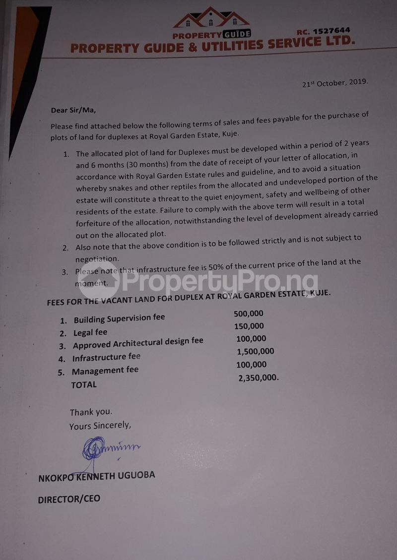 4 bedroom Residential Land Land for sale Estate sector C plot 126 Gudaba kuje Abuja behind Centenary city   Kuje Abuja - 8