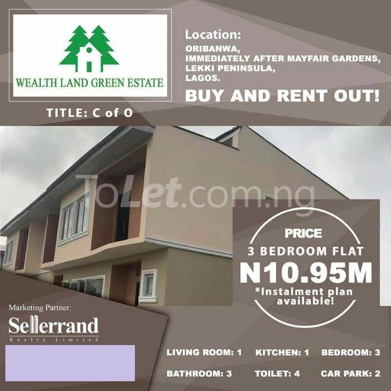Flat / Apartment for sale Oribanwa immediately after Mayfair Gardens,Off Lekki epe expressway,Lagos  Lekki Lagos - 3