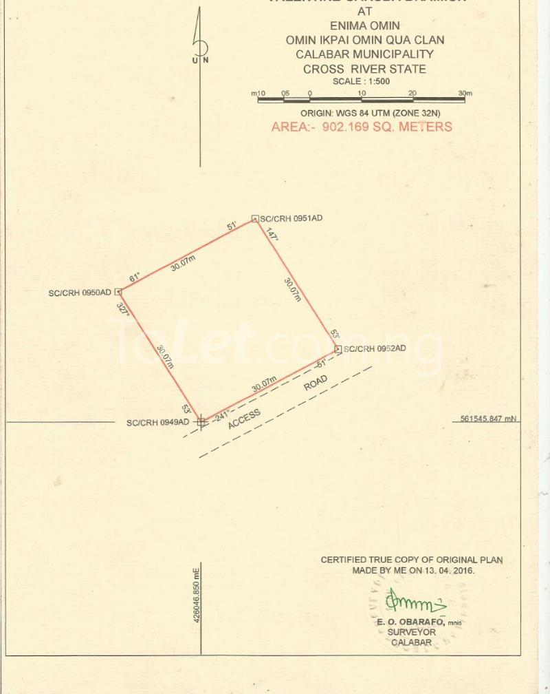 Land for sale New layout Calabar Cross River - 1