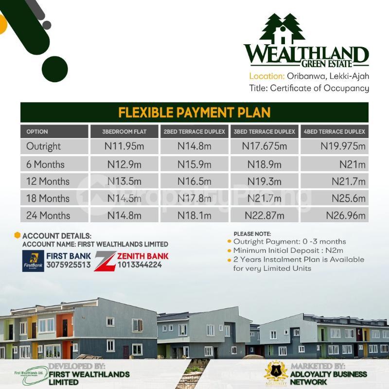 3 bedroom Flat / Apartment for sale Oribanwa Ajah  Off Lekki-Epe Expressway Ajah Lagos - 3