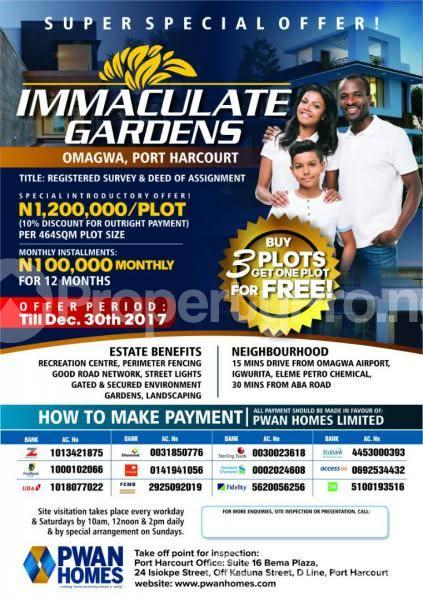 Residential Land Land for sale Omagwa PortHarcourt  Port Harcourt Rivers - 0