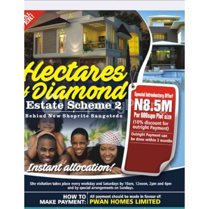Residential Land Land for sale Sangotedo Ajah Lagos - 0