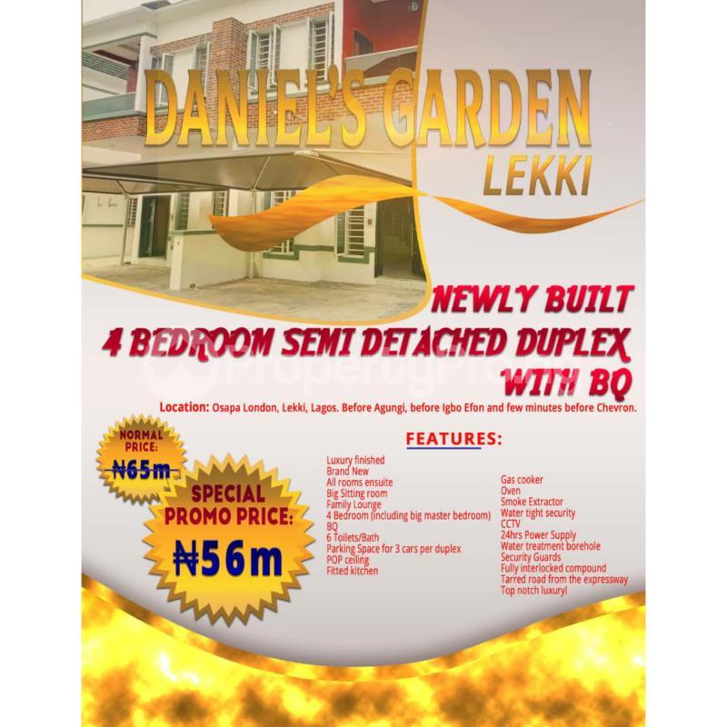 4 bedroom Semi Detached Duplex House for sale Osapa London, Lakki,  before Agungi, before Igbo Efon and few minute before Chevron Agungi Lekki Lagos - 1