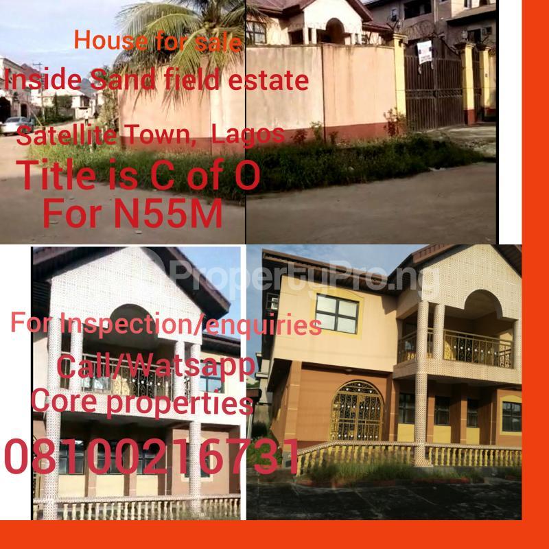 6 bedroom Detached Duplex House for sale Inside sand field Estate,  Satellite Town .Lagos Satellite Town Amuwo Odofin Lagos - 0