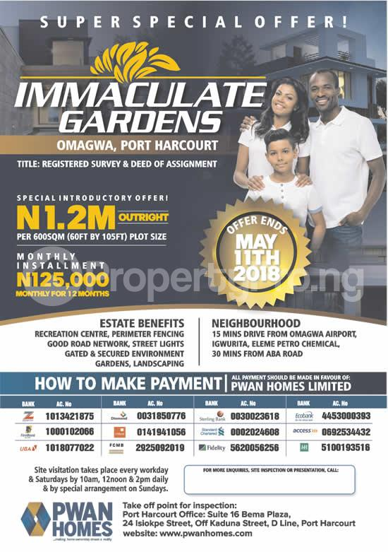 Mixed   Use Land Land for sale 15mins Drive from Omagwa Airport,  Port Harcourt Rivers - 0