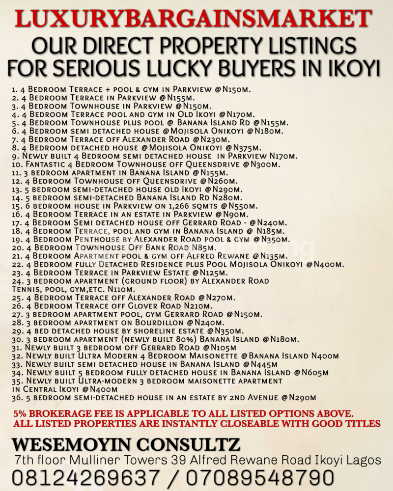 4 bedroom Semi Detached Duplex House for rent Old Ikoyi Ikoyi Lagos - 3