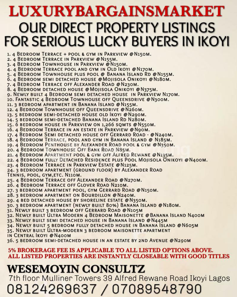 4 bedroom Semi Detached Duplex House for rent Ikoyi Lagos - 2