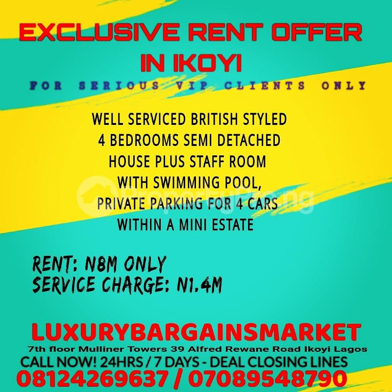 4 bedroom Semi Detached Duplex House for rent Ikoyi Lagos - 0