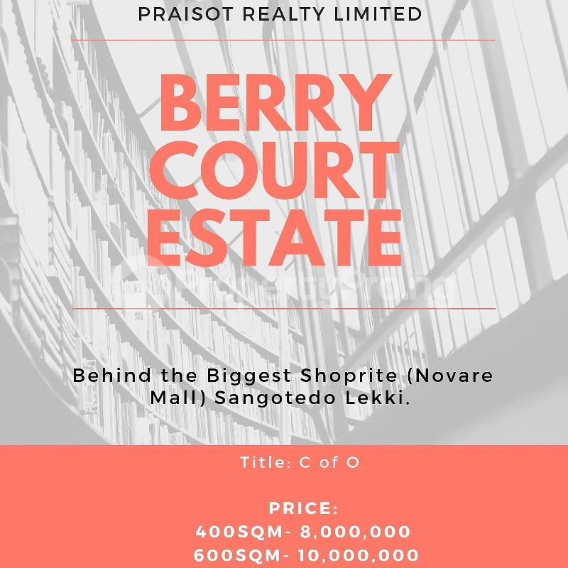 Residential Land Land for sale Berry Court Estate, Off  Monastery road Sangotedo Lagos - 7