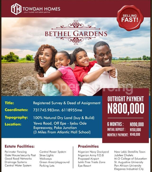 Residential Land Land for sale Bethel Gardens, Off Poka Road Epe Road Epe Lagos - 9