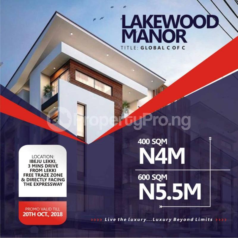 Residential Land Land for sale Ibeju-Lekki Free Trade Zone Ibeju-Lekki Lagos - 0