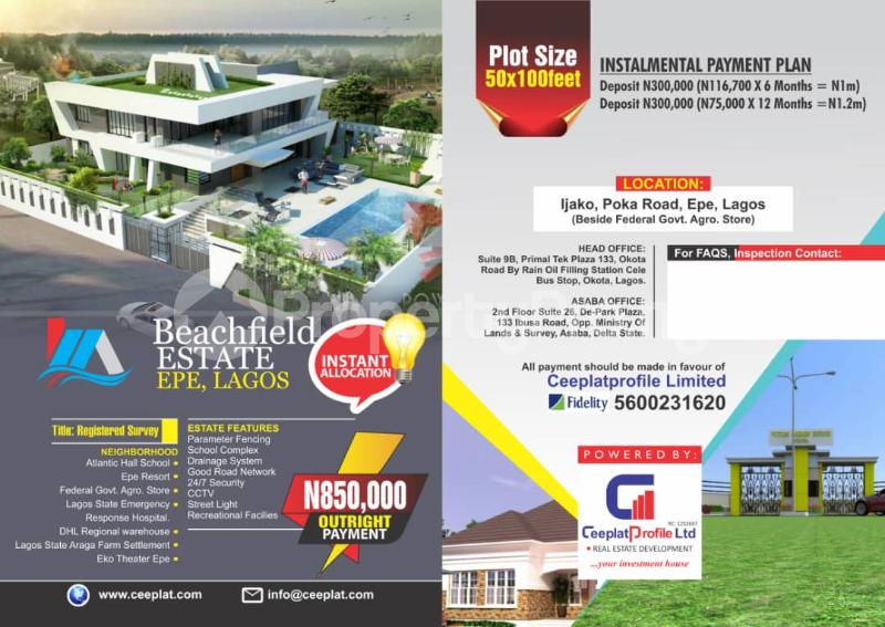 Serviced Residential Land Land for sale behind 2nd niger bridge  Asaba Delta - 1