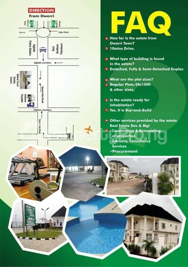 Residential Land Land for sale Bethel Courts Estate Is Located In Owerri Agbala Owerri North LGA Imo State Nigeria  Owerri Imo - 3