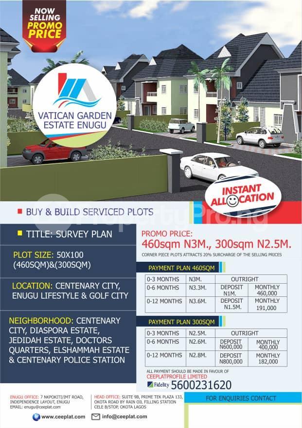 Residential Land Land for sale Centenary City, Enugu  Enugu Enugu - 0